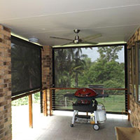 15. Channel Roll-up Fabric Awnings