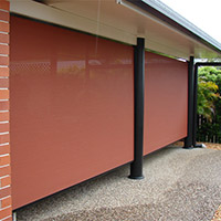 2. Channel Roll-up Fabric Awnings
