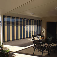 21. Channel Roll-up Fabric Awnings