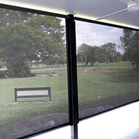 9. Channel Roll-up Fabric Awnings