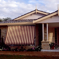 2. Roll-up Fabric Awnings