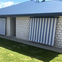 4. Roll-up Fabric Awnings